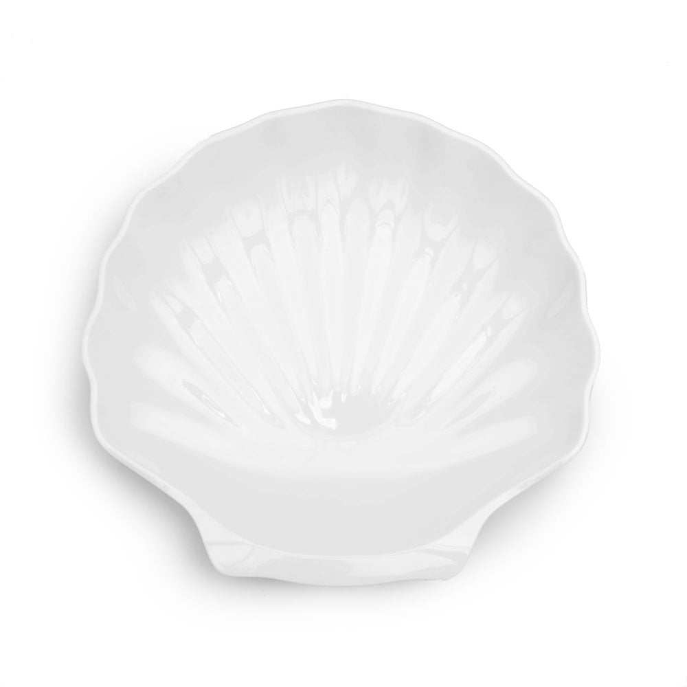 Shell White Melamine Serving Platter