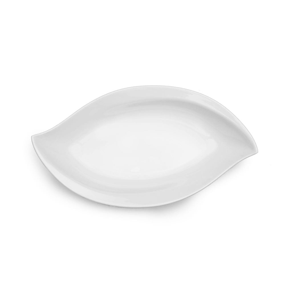 Small Petal White Melamine Serving Platter