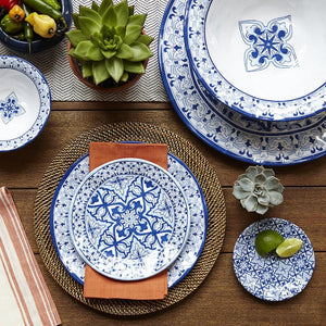 Talavera in Azul Blue Melamine Dinner Plate