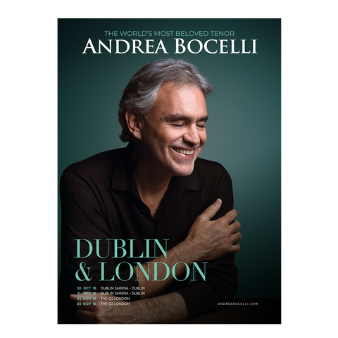 Andrea Bocelli (UK / Ireland Tour 2018) Programme