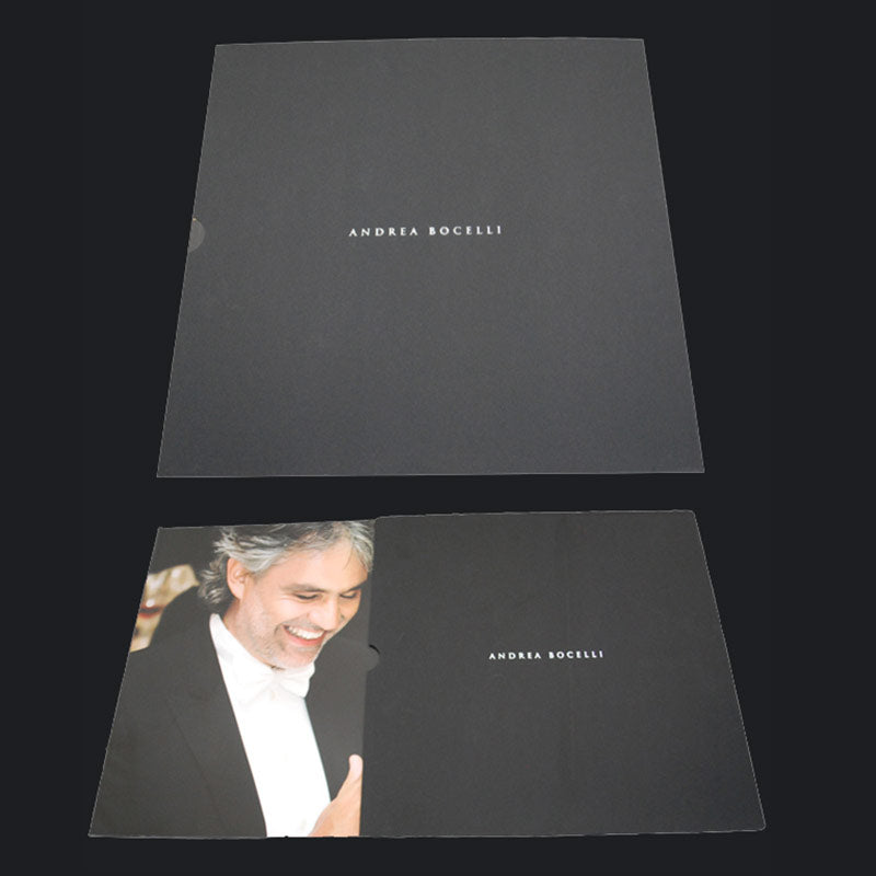 Andrea Bocelli Photo Book Black