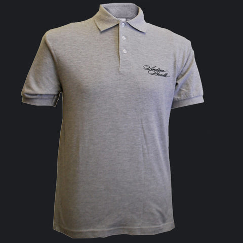 Andrea Bocelli (Signature Embroidered Polo) Heather Grey T-Shirt