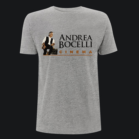 Andrea Bocelli (Cinema Photo) Grey Melange Mens T-Shirt