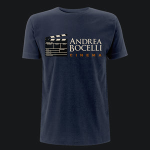 Andrea Bocelli (Cinema Clapperboard) Navy Mens T-Shirt