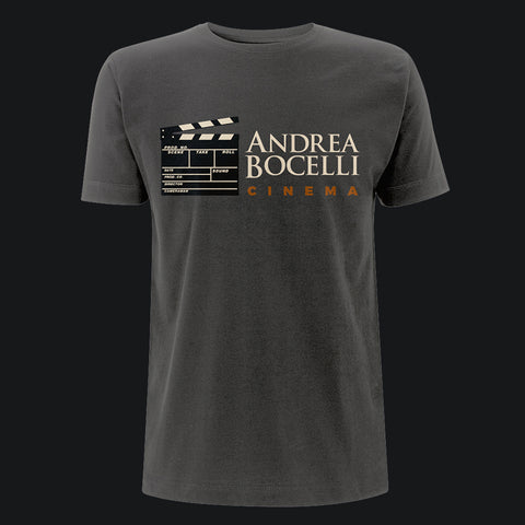 Andrea Bocelli (Cinema Clapperboard) Charcoal Mens T-Shirt