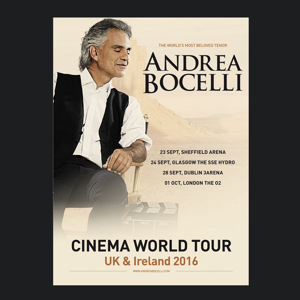 Andrea Bocelli (UK / Ireland Tour 2016) Programme