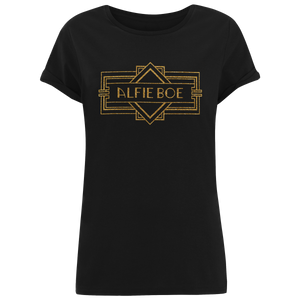 Deco Logo Ladies Rolled Sleeves T-shirt