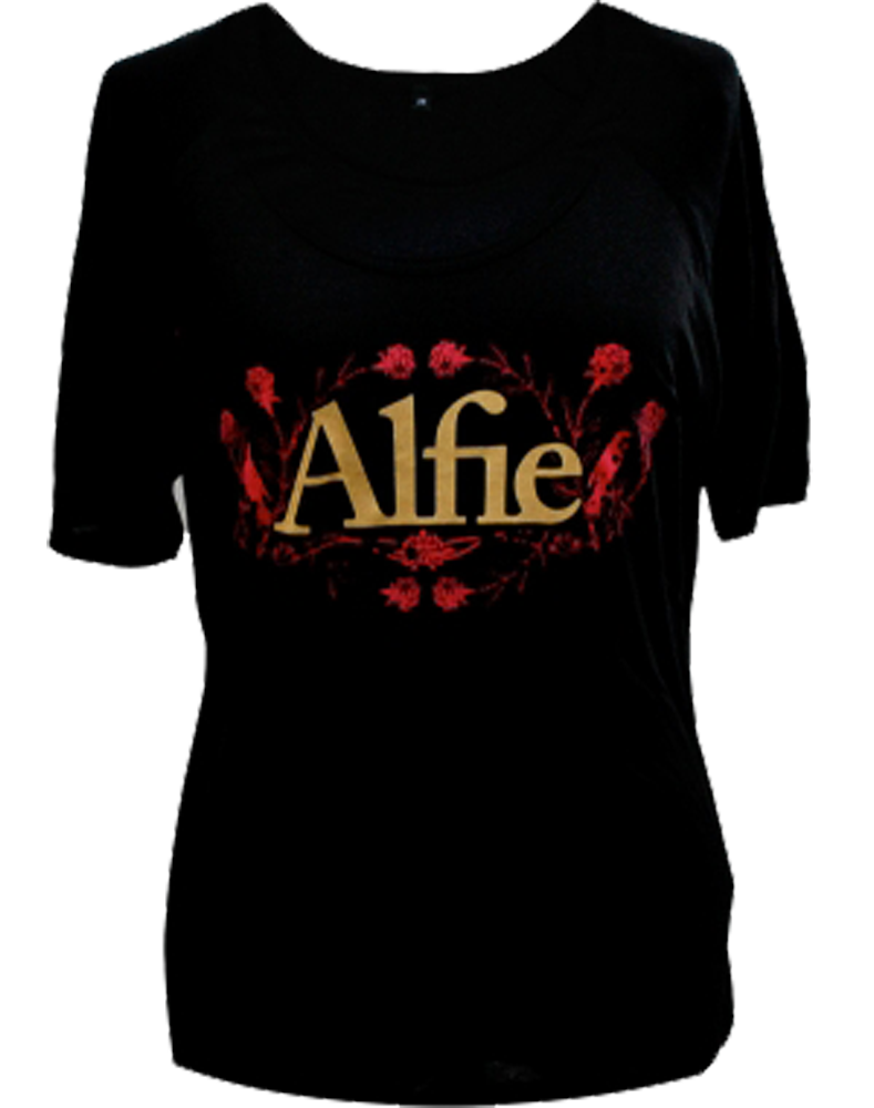 Roses Logo - Black 3/4 Length Sleeve T-Shirt