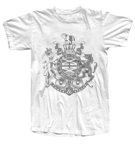 Chase and Status (Faded Crest) White T-Shirt