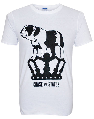 Chase and Status (Bulldog) White T-Shirt