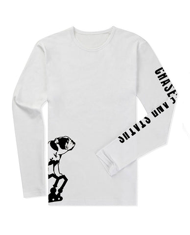 Chase and Status (Bulldog Logo) White Longsleeve Shirt