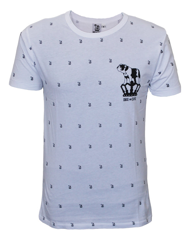 Chase and Status (Bulldog Pattern) White T-Shirt
