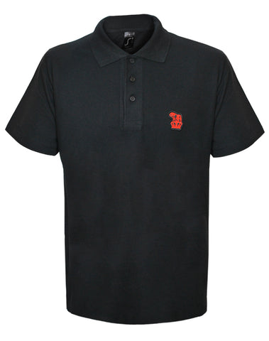 Chase and Status (Bulldog) Black Polo Shirt