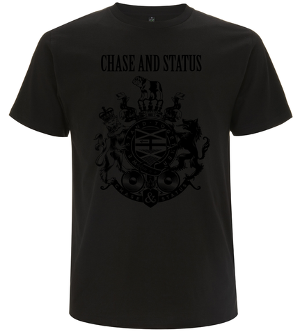 Chase and Status (Black Crest) Black T-Shirt