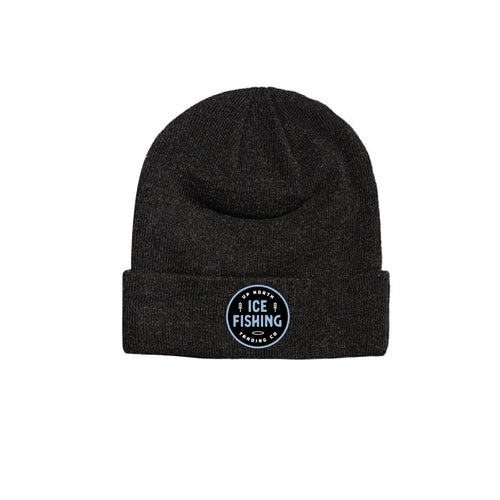 Dark Grey Ice Fishing Beanie