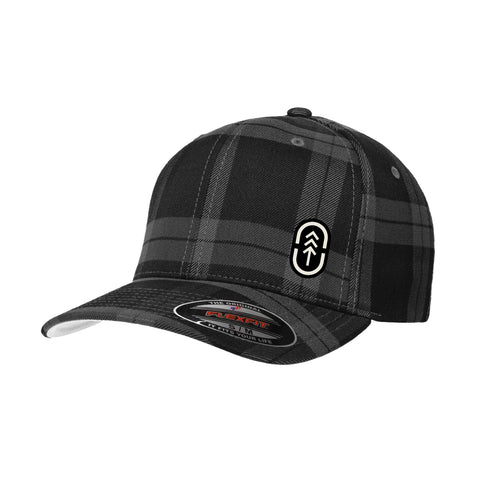 Tartan Black Plaid Flexfit Hat