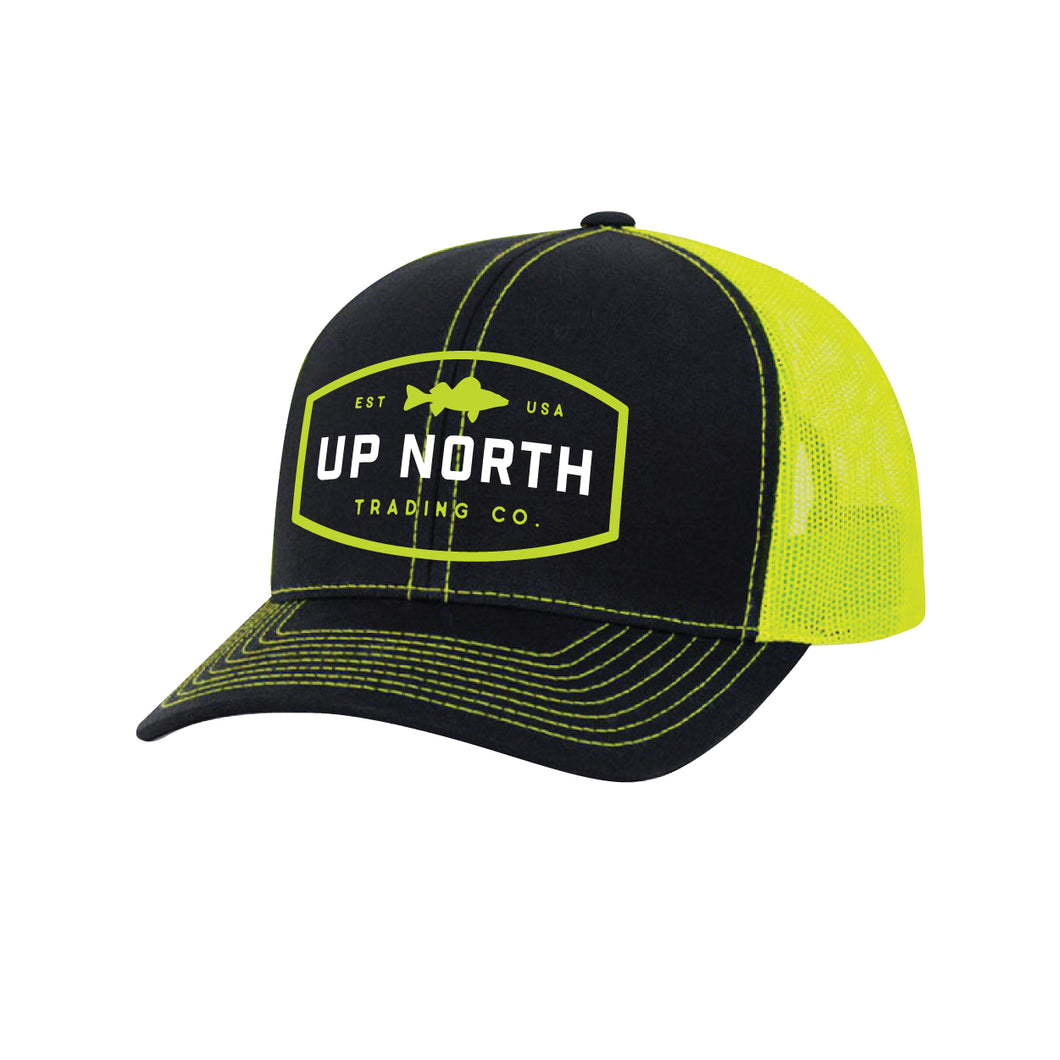 Black/Neon Walleye Snapback