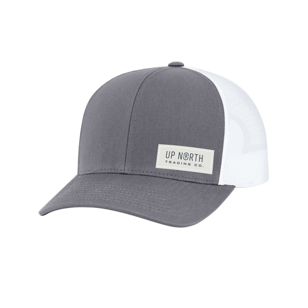 Charcoal/White Nametag Snapback