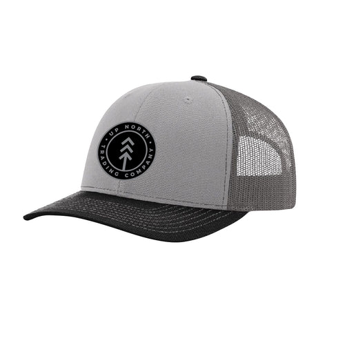 Tritone Grey Round Lake Patch Snapback