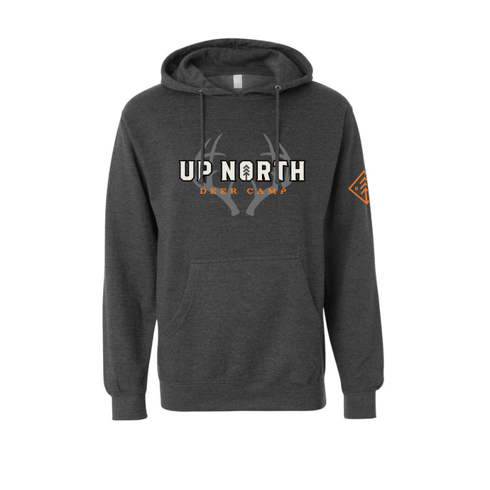 Men's Charcoal Deer Camp Hoodie