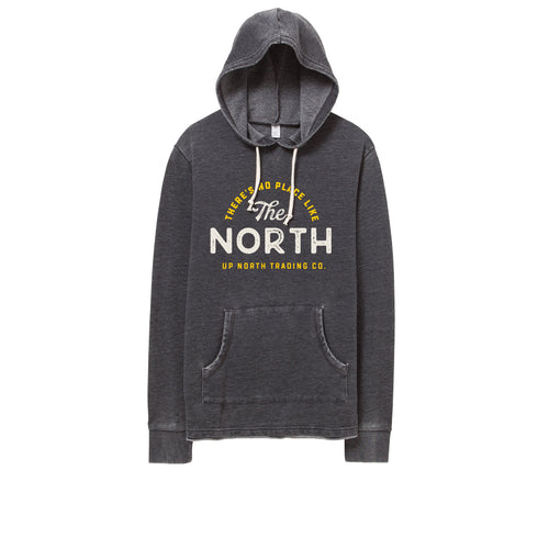 Men's No Place Like The North Vintage Bonfire Hoodie