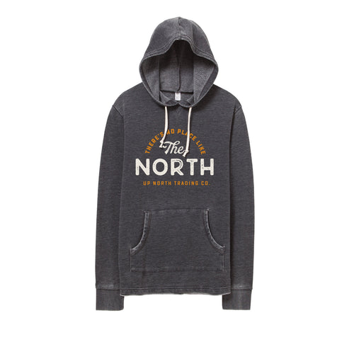 Men's Navy/Orange Vintage Bonfire Hoodie
