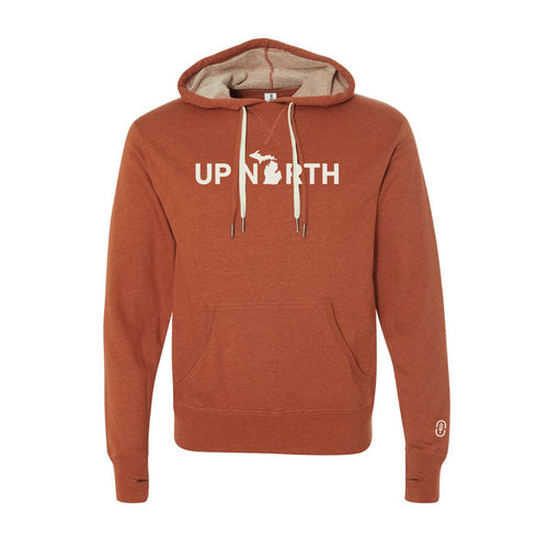 Men's Orange Up North MI Hoodie