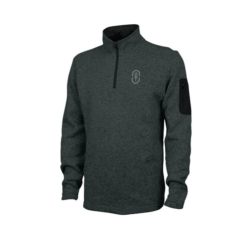 Men's Charcoal Heathered Fleece Pullover