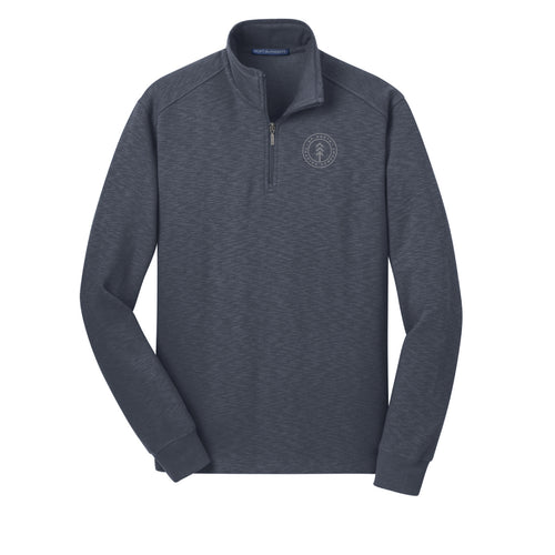 Men's Slate Slub Round Lake Quarter Zip