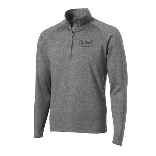 Men's Charcoal Big Stone Script Quarter Zip