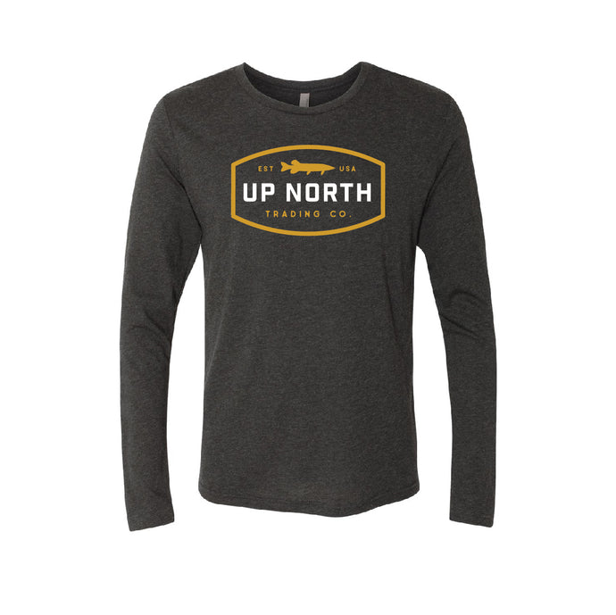 Men's Charcoal/Gold Northern/Muskie Long Sleeve Tee