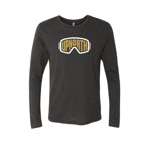 Men's Charcoal Up North Goggle Long Sleeve Tee