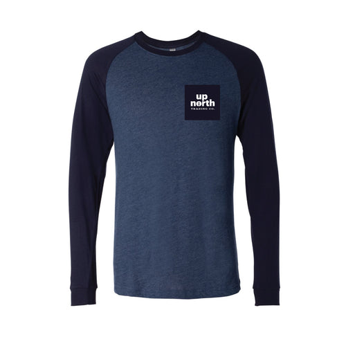 Men's Duotone Blue Tofte Text Long Sleeve Tee