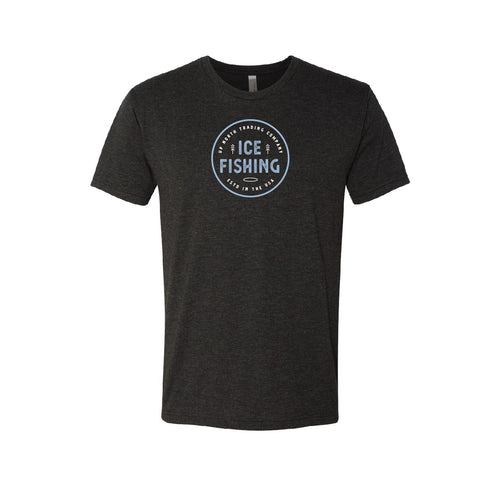 Men's Black Ice Fishing Tee