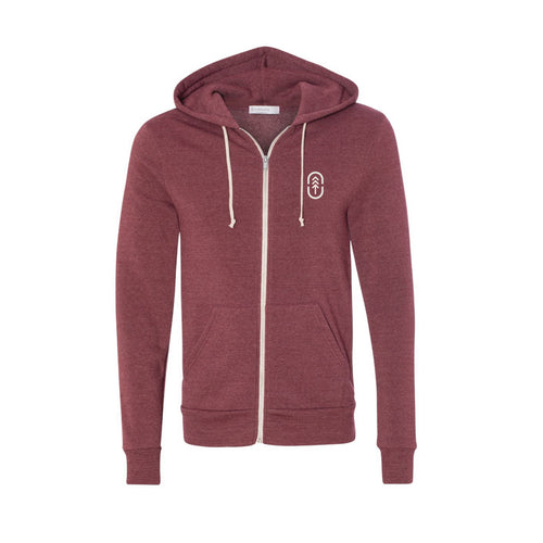 Men's Currant Zip Up Hoodie