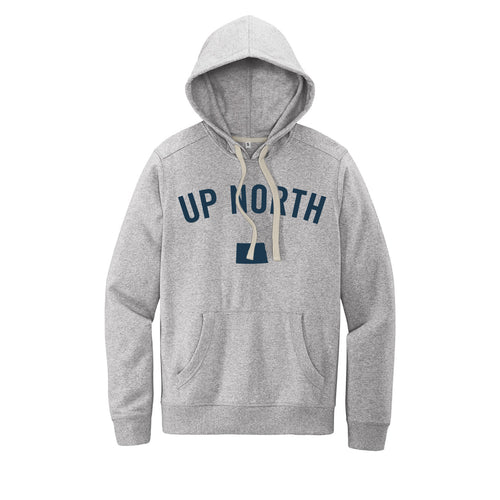 Unisex Light Grey Up North ND Felt Hoodie