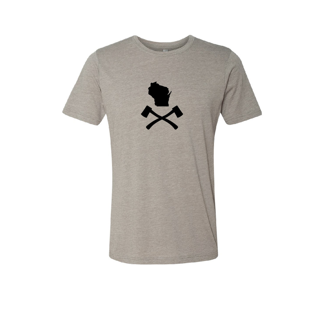 Men's Tan WI Jolly Roger Tee