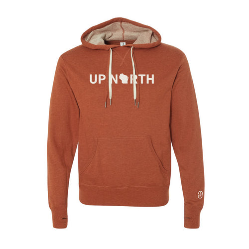 Men's Orange Up North WI Hoodie
