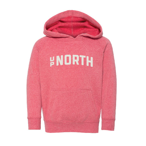 Kids Pink Up North Hoodie