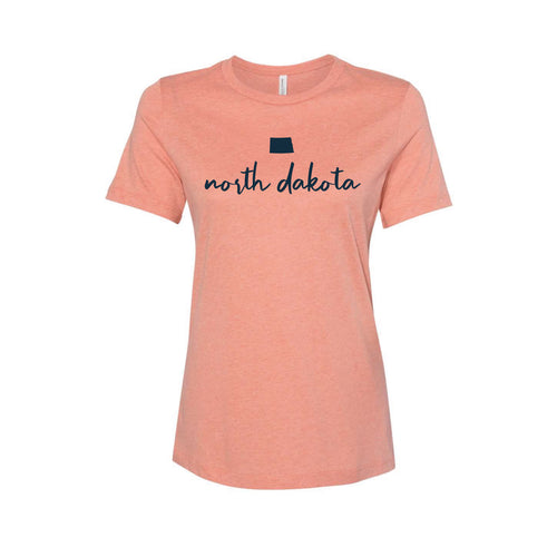 Women's Orange ND Slip Script Tee