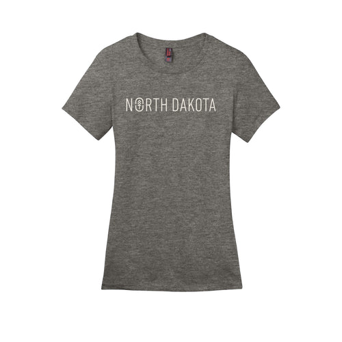 Women's Grey ND Logo Tee