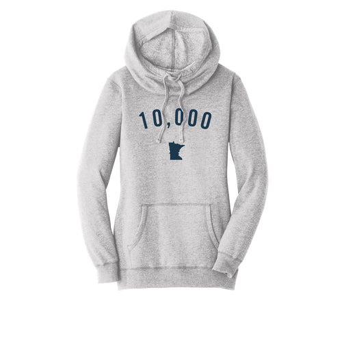 Women's Light Grey 10,000 Felt Hoodie