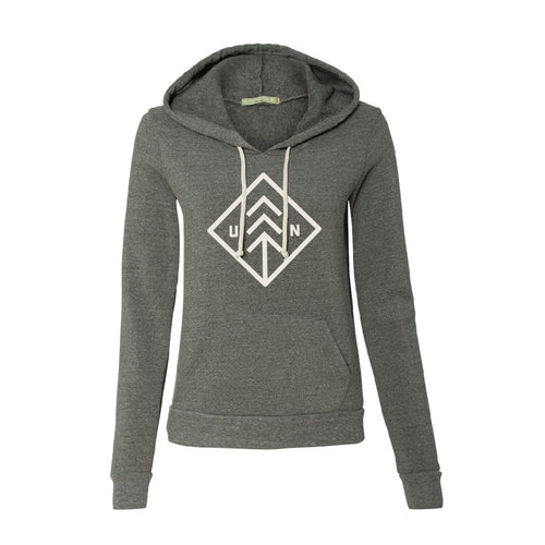 Women's Grey Big Diamond Hoodie