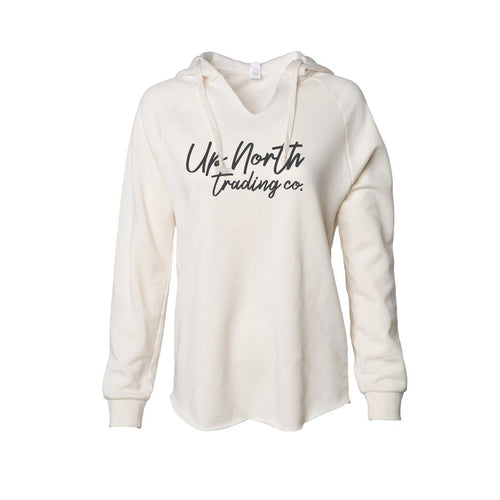 Women's Dockside Script Bone White Hoodie