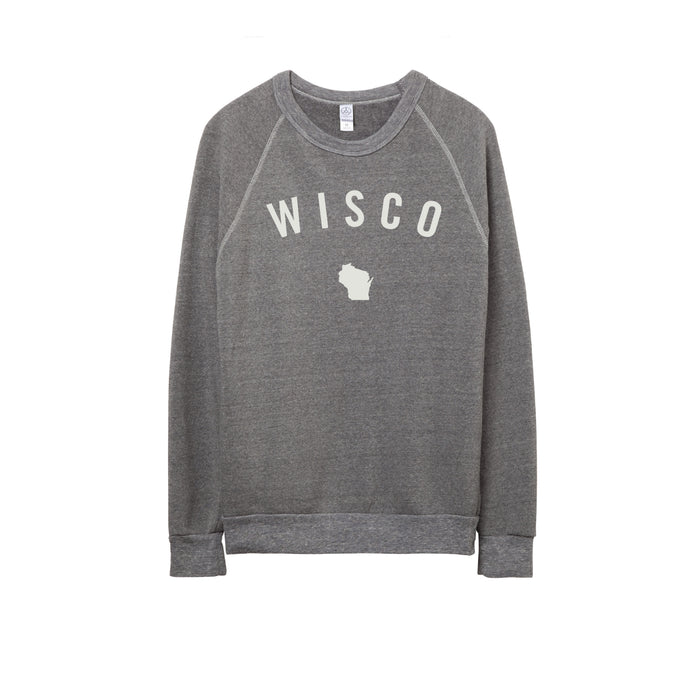 Unisex Heathered Grey Wisco Felt Crew