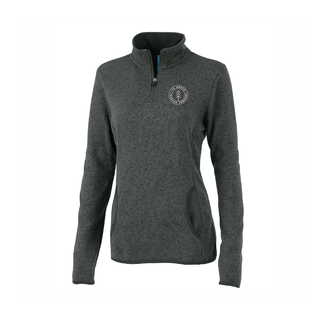 Women's Charcoal Round Lake Fleece Quarter Zip