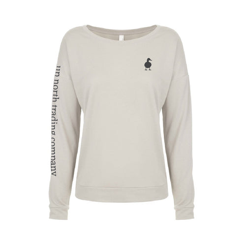 Women's Natural Duck Walk Long Sleeve Tee