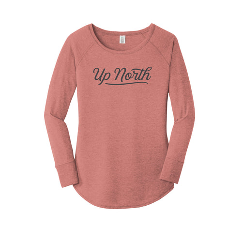 Women's Dusty Rose Club Script LS Tee