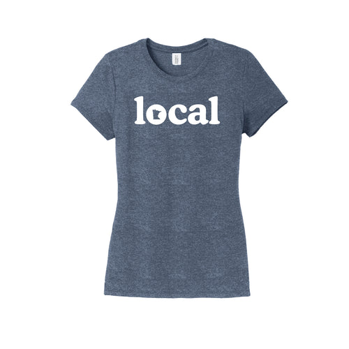 Women's Navy MN Local Tee