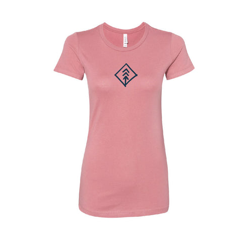 Women's Rose Diamond Hand Tee